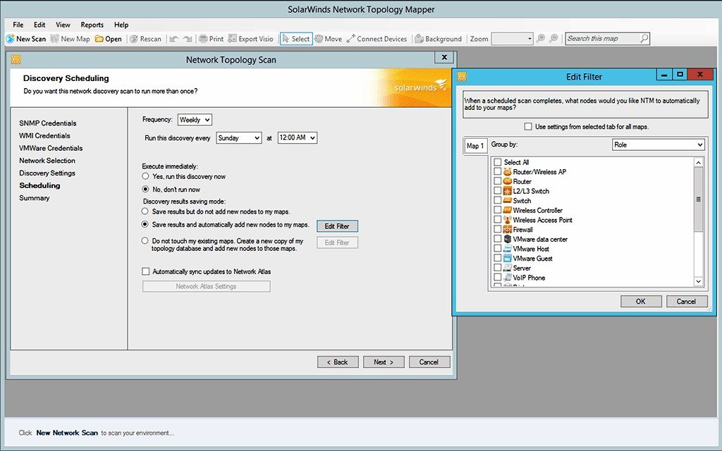 Network Topology Mapper SolarWinds