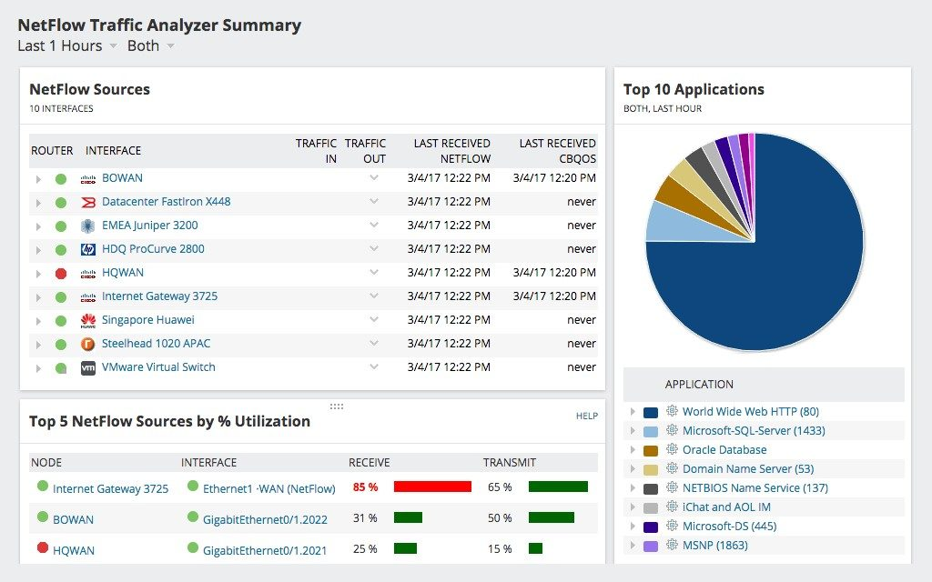 NetFlow Traffic Analyzer 1
