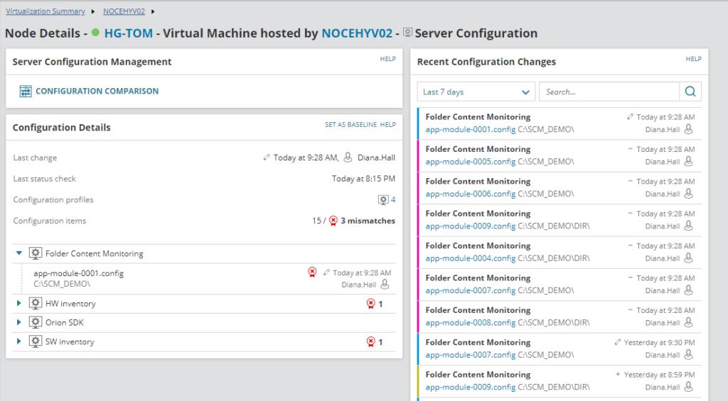 SolarWinds Server Configuration Monitor