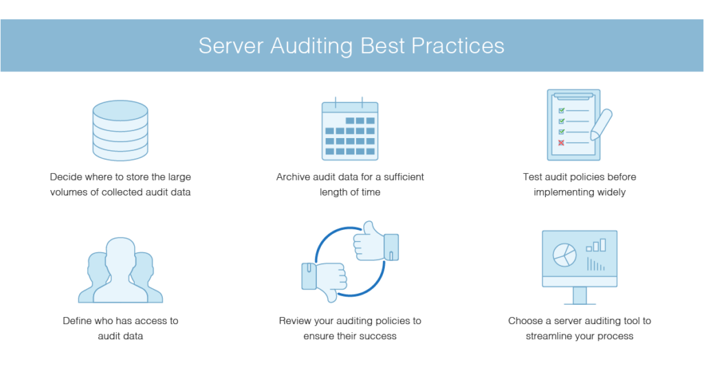 server auditing best practices
