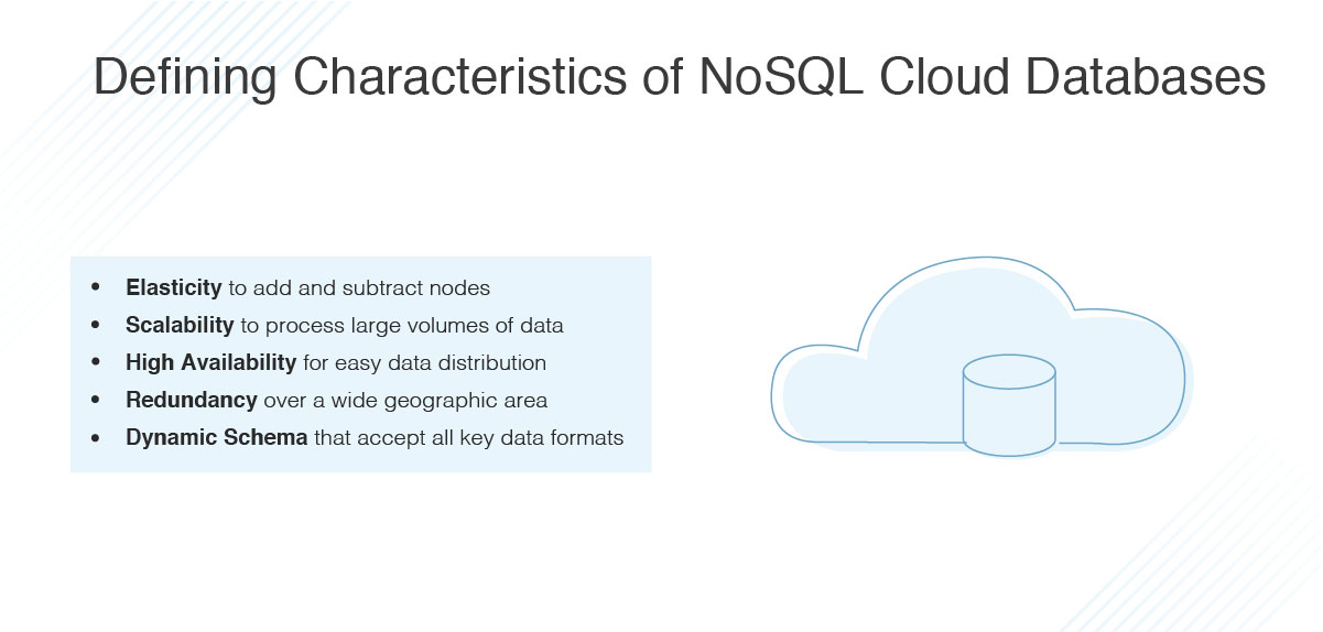 characterstics of NoSQL databases