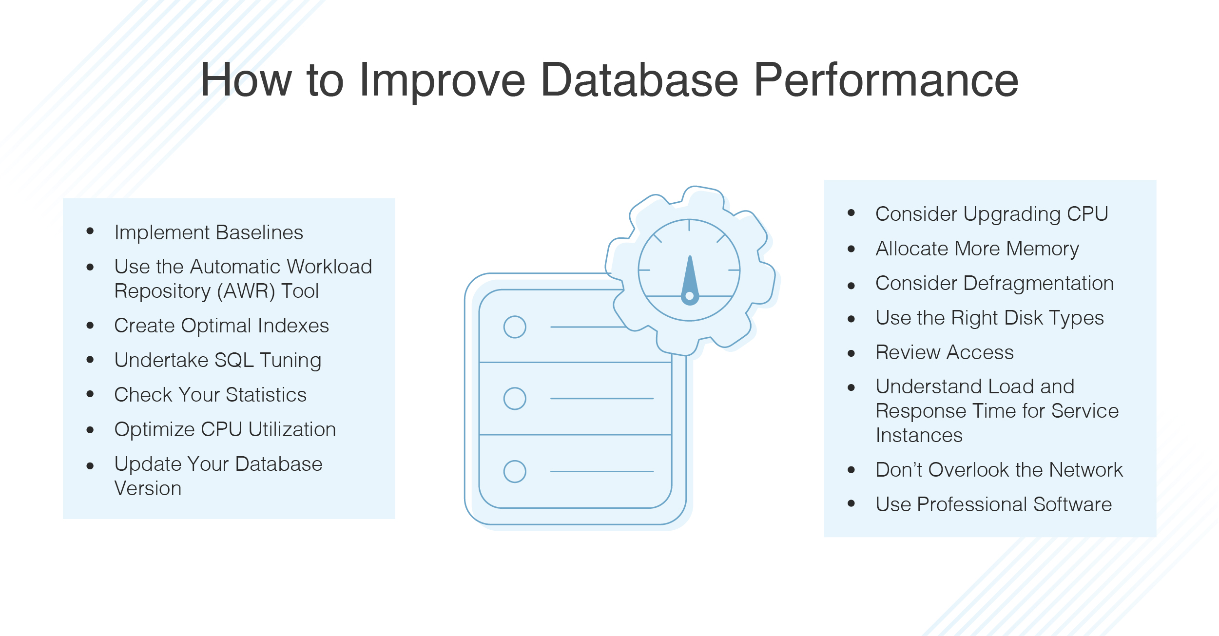 how to improve database performance