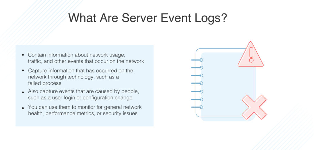 what are server event logs