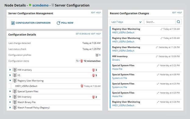 SolarWinds Server Configuration Monitor (SCM)