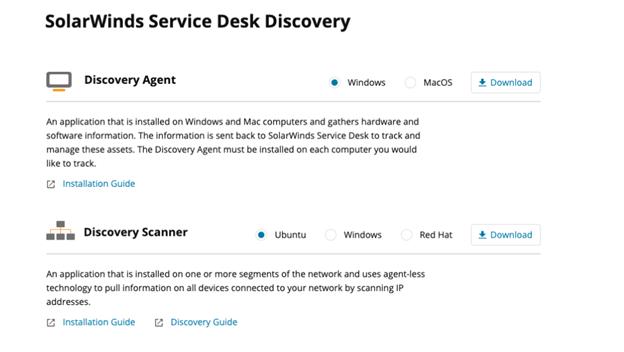 Solarwinds Service Desk Discovery